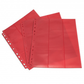 Blackfire 18-Pocket Pages Red Sideloading (50 pcs)