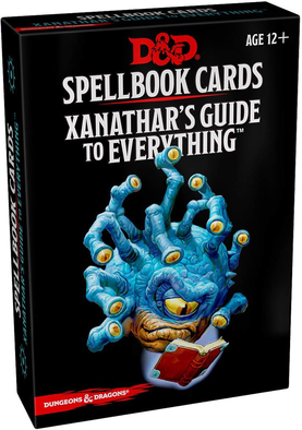 Dungeons & Dragons RPG Xanathar's Guide to Everything Spellbook Cards
