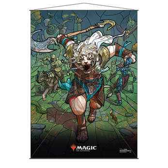 Ultra Pro Stained Glass Wall Scroll MTG Ajani